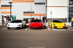 Choices (Hunter J. G. Frim Photography) Tags: red white yellow se italian colorado huracan ferrari special edition rosso lamborghini scuderia supercar v8 v10 gallardo 430 lamborghinigallardo lamborghinigallardose adv1 ferrari430scuderia lp5504 lp6104 lamborghinihuracan lamborghinihuracanlp6104