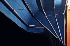 Under the blue (Jani M) Tags: street blue urban orange night line diagonal doubled ajac