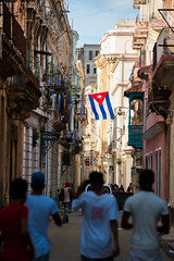 las calles (C. Rich Imagery) Tags: people urban streets alley flag havana cuba cuban crowded lahabana