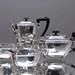 Francis Howard, Sheffield, Teeservice, Kaffeeservice, Teeset, Set, Service, Teekanne, Kaffeekanne, Zuckerschale, Milchkännchen, versilbert, plated, Art Déco