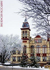 Perth County Court House Portrait 1 (Jamie Hedworth) Tags: winter snow ontario canada stratford victorianarchitecture gothicarchitecture winterscene perthcountycourthouse jamiehedworthphotography