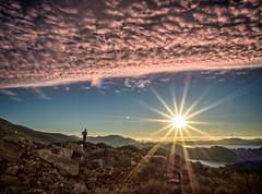 Watching the sunrise, Marin Headlands, California (Trent9701) Tags: california hiking olympus marinheadlands sanfranciscotrentcooper