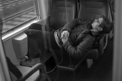 2016007 (ruggeroranzani_RR) Tags: people blackandwhite man digital train sleep leicame throughthedoorwindow voigtlandernokton11550aspherical