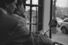 roman holiday 2 (bergytone) Tags: bw film analog vespa audreyhepburn kodak ilford fp4 1953 retina romanholiday gregorypeck frozenintime selfdeveloped 125asa grandhavenmi iiic exisitnglight ilfosol3