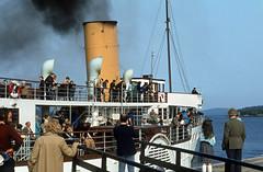 'Maid of the Loch' departing Luss Pier . Jul'80. (David Christie 14) Tags: lochlomond luss maidoftheloch