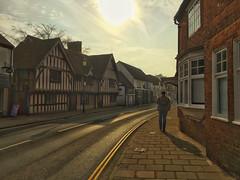 20160312_Sun on the High Street (Damien Walmsley) Tags: england sun village library highstreet nocars knowle