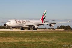 Emirates --- Airbus A340-300 --- A6-ERN (Drinu C) Tags: plane aircraft aviation sony emirates airbus dsc a340 mla a340300 lmml a6ern hx100v adrianciliaphotography