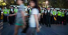 police (angeloangelo) Tags: people motion night walking police seoul vests sout
