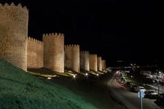 Nocturna vila (gasendi) Tags: espaa canon spain nocturna avila murallas cuatropostes eos450d gasendi