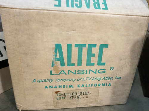 Pair of Vintage Altec Lansing 604E Super Duplex Speaker W/N1500A Crossover (New in Box) $1,430.00 - 11/20/15