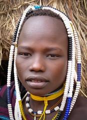 Mursi Girl (Rod Waddington) Tags: africa portrait people woman female beads african traditional culture tribal afrika omovalley ethiopia tribe ethnic mago mursi cultural ethnicity afrique ethiopian omo etiopia ethiopie etiopian