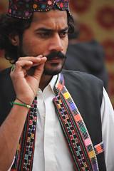 Pride and Prejudice (raaskohX10) Tags: beard embroidery candid pride cap mustache waistcoat prejudice baloch marri bugti mengal brahvi