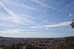 (Brucato Sara) Tags: world city travel sunset sky cloud sun high spain peace time infinity free cielo pace infinito viaggio barcellona paesaggio spagna libert orizzonte citt