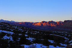 Capitol Reef Sunset, January 2016 (Bob Palin) Tags: winter sunset usa snow cold southwest water 1025fav canon landscape utah nationalpark sandstone desert outdoor 100v10f capitolreef redrock winterbeauty 100vistas instantfave canonef24105mmf4lisusm ashotadayorso cloudsstormssunsetssunrises orig:file=2016011504301