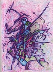 Neon Knight (darksaga66) Tags: art penandink inkart bookofink