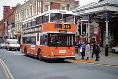 First Manchester 4493 (SND 493X) (SelmerOrSelnec) Tags: bus leyland wigan gmt atlantean firstmanchester northerncounties wallgate snd493x