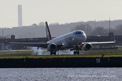 Helvetic Airways ERJ190 ~ HB-JVR ( Freddie) Tags: london londoncityairport newham e16 lcy royaldocks eglc runway27