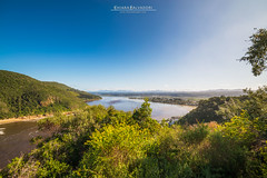 Knysna Lagoon (Chiara Salvadori) Tags: africa travel winter sea green nature water colors landscape southafrica spring scenery outdoor indianocean lagoon cape traveling eastern gardenroute easterncape knysna sudafrica knysnalagoon