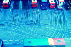 Tracks in the hail at Preston Bus Station (Tony Worrall Foto) Tags: county street city uk morning travel blue winter england urban white snow cold bus ice buses lines hail early cool stream tour open place northwest unitedkingdom centre country curves north tracks trails visit snap location lancashire freeze area preston icy northern update chill attraction lanes lancs prestonbusstation welovethenorth