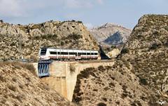 Abriendose Paso (lagunadani) Tags: puente sony paisaje alicante montaa 449 a7 renfe viaducto monovar monover