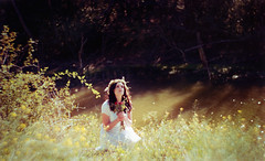 Ophelia 6 (Anjella Roessler) Tags: film loss death shakespeare nikonf100 romantic hamlet ophelia preraphaelite filmphotography petzval cinestill cinestill50d
