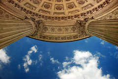 The Sky And The Temple De l'Amour (At Versailles) (J Swanstrom (In & Out For A While)) Tags: blue sky cloud paris france stone architecture nikon stonework columns versailles d80 templedelamour jswanstromphotography