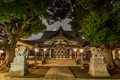 Anahachiman Shrine (Tuck Happiness) Tags: longexposure statue japan night tokyo shrine nocturnal   2016 anahachiman