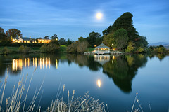 Josef Chromy (Pat Charles) Tags: travel sunset moon lake reflection tourism water night reflections island restaurant evening vineyard nikon wine dusk dam australia winery reflected moonrise tasmania bluehour 1001nights rotunda launceston wines relbia 1001nightsmagiccity