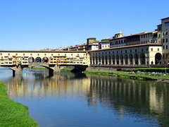 Buildings along the River Arno in Florence (chibeba) Tags: city urban italy reflection tourism river florence spring europe tuscany april riverarno arnoriver 2016 shortbreak citybreak