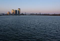 Northside Piers and Williamsburg Bridge (paulsvs1) Tags: nyc newyorkcity bridge urban brooklyn sunrise lumix cityscape waterfront view towers wideangle panasonic eastriver greenpoint williamsburgbridge northsidepiers