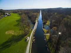 Erie Canal (Matt Champlin) Tags: canal aerial aqueduct cny syracuse upstatenewyork erie monday uav aerialphotography eriecanal drones drone 2016 phantom3 dji camillusny djiphantom3 camilluseriecanal
