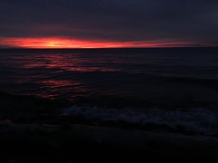 Sunset from the beach (ryangs) Tags: camping sunset fall nature hiking michigan wilderness upperpeninsula lakesuperior porcupinemountains