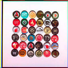 Bottle Caps (Piton Photography) Tags: 3 color beer bottle caps cm hasselblad 500 rgb seperation bottlecaps 500cm 3colorseperation