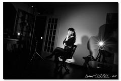 Backstage (Laurent CLUZEL) Tags: bw woman studio model nikon nb brunette backstage vr d610 2485