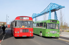 2016-04-24 AFB 586V, XFW 951S Bristol LH-ECW, Middlesbrough (delticalco) Tags: bus buses bristol lincolnshire tms boc busrally bristollh teessiderunningday 500grouprunningday