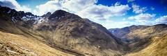 Gleann a'Chaolais (OutdoorMonkey) Tags: panorama mountain nature rural walking landscape outside scotland countryside outdoor hiking peak bluesky panoramic hike glen ridge valley mountainside hillside munro aonacheagach lochleven mealldearg caolasnacon gleannachaolais