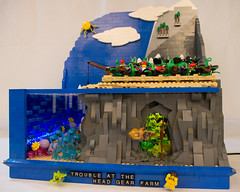 Trouble at the Headgear Farm (Fuzzy Thoughts) Tags: underwater lego landscaping