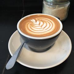 Flat white coffee time at Pardon Coffee in Prahran