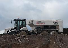Binding. (HivizPhotography) Tags: road uk scotland construction soil aberdeen agent binding gdl stabilization hydrema awpr 922d streumaster sw15ma