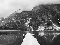 Snowy dock (NEBhRvAtSKA) Tags: winter mountain lake alps slovenia bohinj