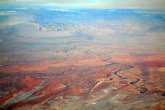 2016_02_10_sba-lax-ewr_526 (dsearls) Tags: red orange snow mountains utah flying desert wind aviation united aerial erosion plains sanrafaelswell ual unitedairlines windowseat windowshot 20160210 sbalaxewr