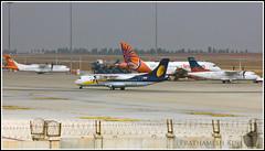 Three Airlines & Three ATRs (Prathamography by Prathamesh Kini) Tags: airport aircraft airbus overview airindia atr jetairways bengaluru avgeek bial airpegasus kgial
