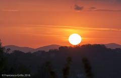 Sunset 13 (Francesco_Grillo) Tags: sunset red summer sky italy orange sun silhouette clouds canon landscape eos landscapes twilight europe italia tramonto campania view cielo vista summertime sole settingsun efs55250mm 1000d