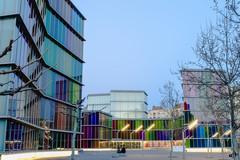El Musac (Elsa Fdez) Tags: arquitectura colores moderna musac horaazul