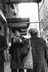 Jewish man reading on street - Korean Town. (minus6 (tuan)) Tags: mts minus6