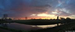 Zonsopkomst met molen De Eersteling, Hoofddorp (Hans Westerink) Tags: sunset panorama windmill molen hoofddorp zonsopkomst hanswesterink
