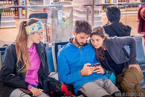 Camille i Andjali z którymi lecieliśmy do Indii