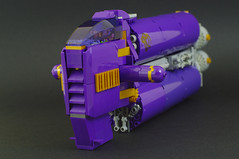 P    (03) (F@bz) Tags: sf purple lego space moc starfighter