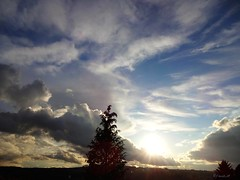 The day slowly draws to its end... (frenziM) Tags: sky night clouds sunrise sonnenuntergang ciel nightphoto nuage coucherdesoleil darknesslight helldunkel clairobcur