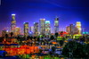 New L.A. Skyline Under Construction! (© In 2 Making Images | °L.A.) Tags: night losangeles colorful downtownla hdr photomatix laskyline hdrphotograhy discoverla laskyscrapers
